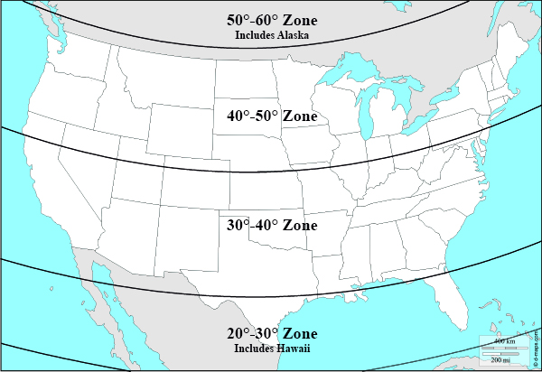 Skymapscom Planispheres - Us map with lines of latitude